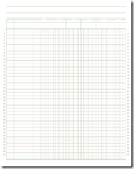 8 5 x11 6colx40row accounting ledger paper