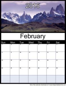 Download February 2015 calendar