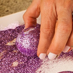 Adding Glitter to easter eggs