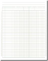 ledger paper printable